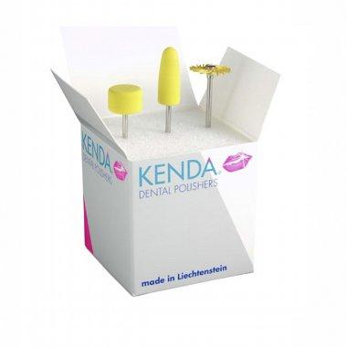 KENDA YELLOW LINE -  набор для финишной полировки акриловых частей протезов